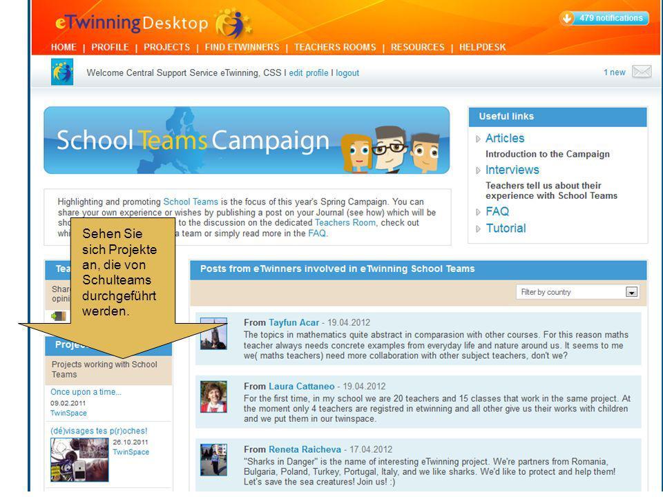 Sehen Sie sich Projekte an, die von Schulteams durchgeführt werden.