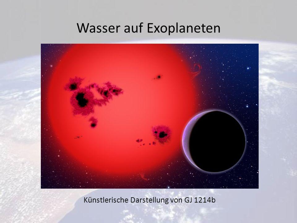 Wasser auf Exoplaneten Künstlerische Darstellung von GJ 1214b