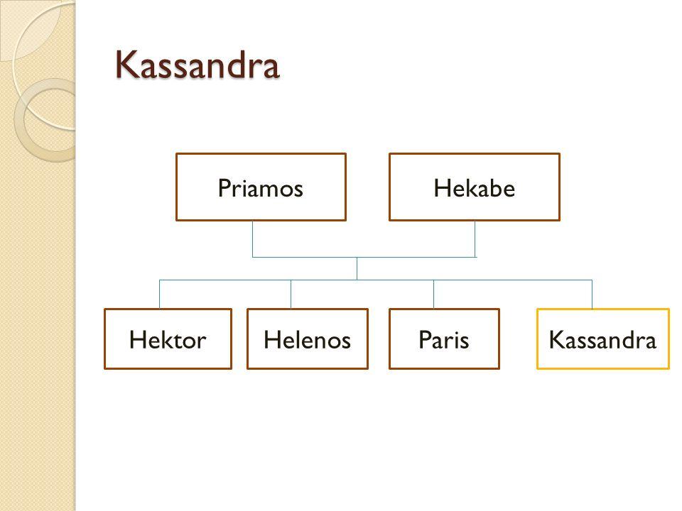 Kassandra PriamosHekabe HektorParisHelenosKassandra