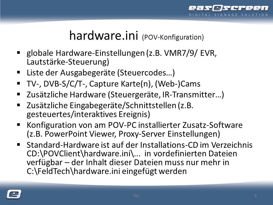 hardware.ini (POV-Konfiguration) vorgefertigte Konfigurationsdateien (z.B.
