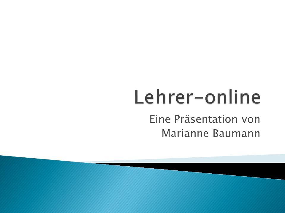 Eine Präsentation von Marianne Baumann