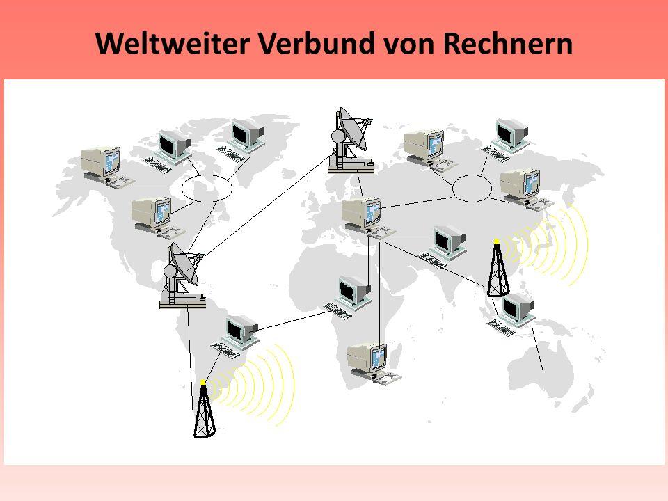 Weltweiter Verbund von Rechnern