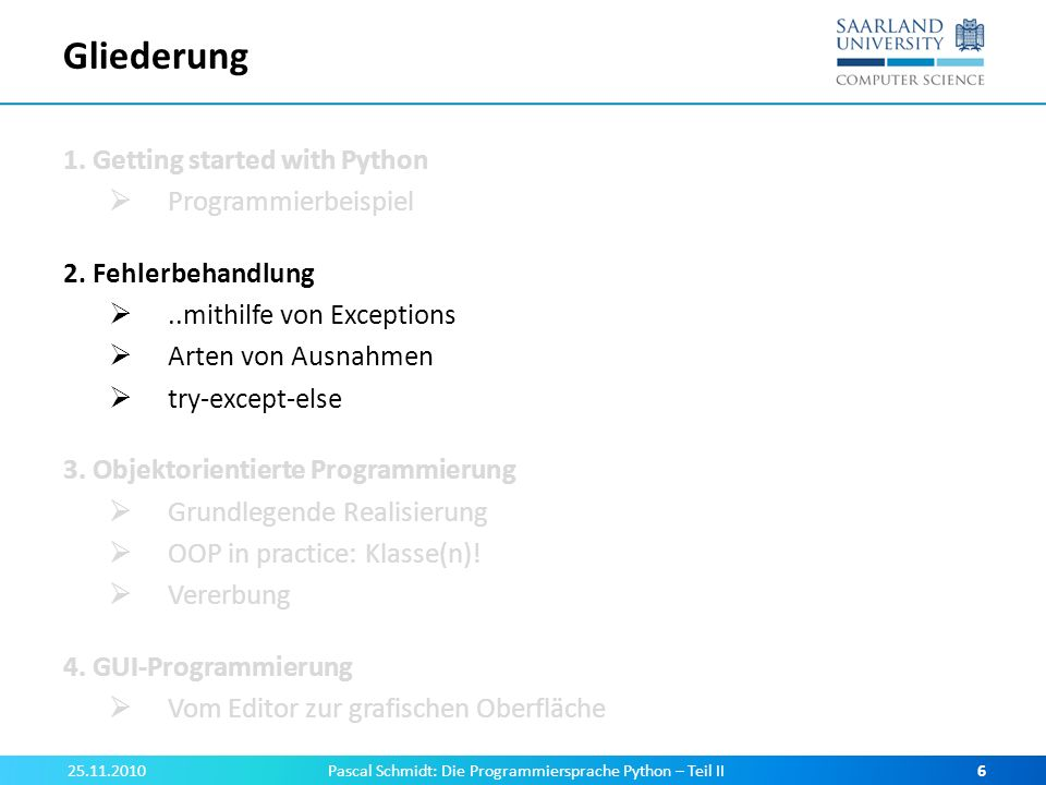 GUI-Programmierung für die Schule.