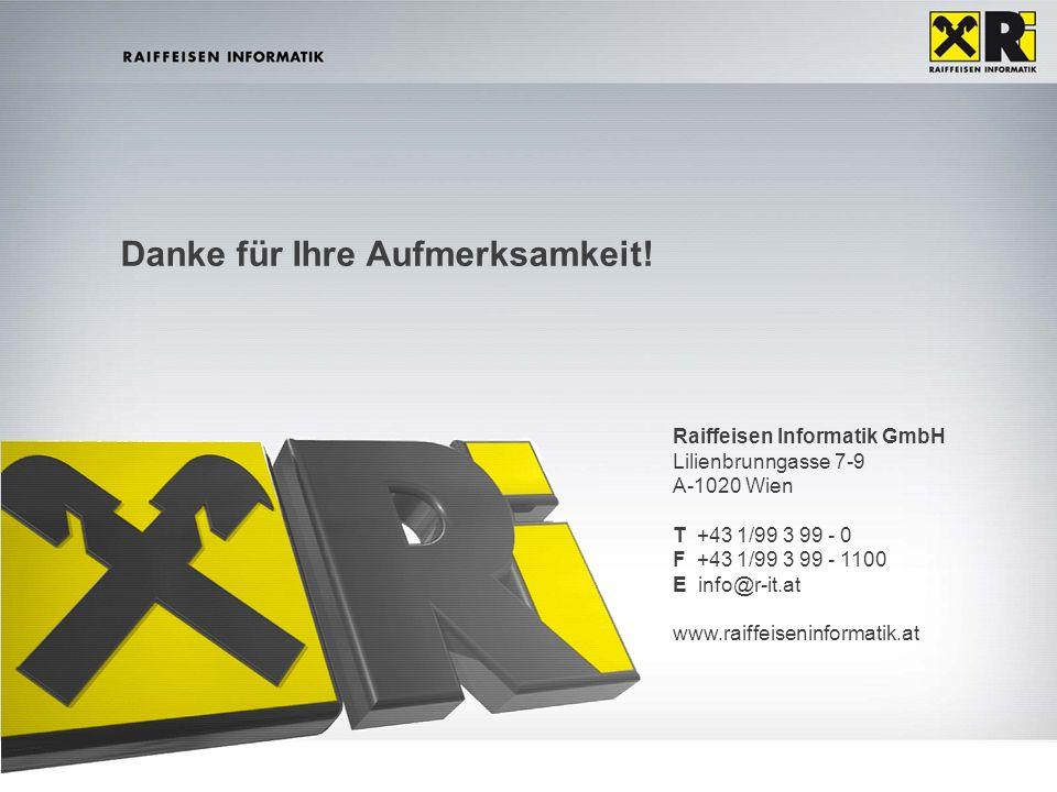EuroCloud Day – Dr. Hannes PfneiszlRaiffeisen Informatik | 23. Mai 2012 |15 Danke für Ihre Aufmerksamkeit! Raiffeisen Informatik GmbH Lilienbrunngasse