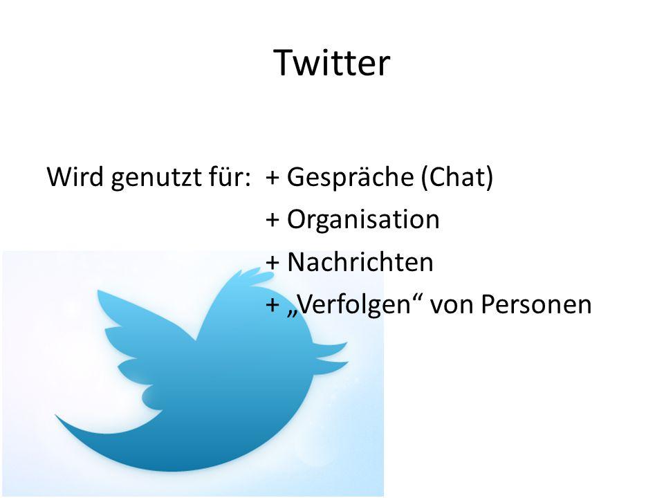 Twitter weil tweets so kurz, Leute kreativ => Abkürzungen und Smilies vor allem im Englischen Jugendliche schreiben auch in der Schule so Negativ: manche können nicht mehr anders schreiben Positiv: Linguisten sehen es als Teil der sprachlichen Evolution