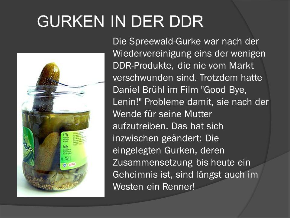 Die Spreewald-Gurke war nach der Wiedervereinigung eins der wenigen DDR-Produkte, die nie vom Markt verschwunden sind. Trotzdem hatte Daniel Brühl im