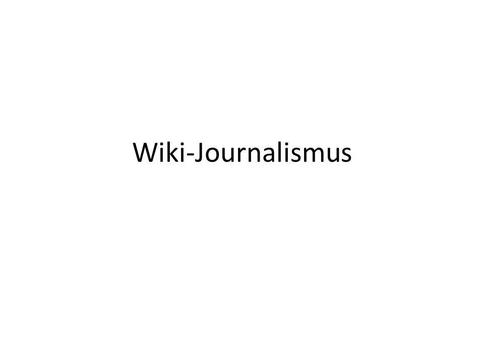 Wiki-Journalismus