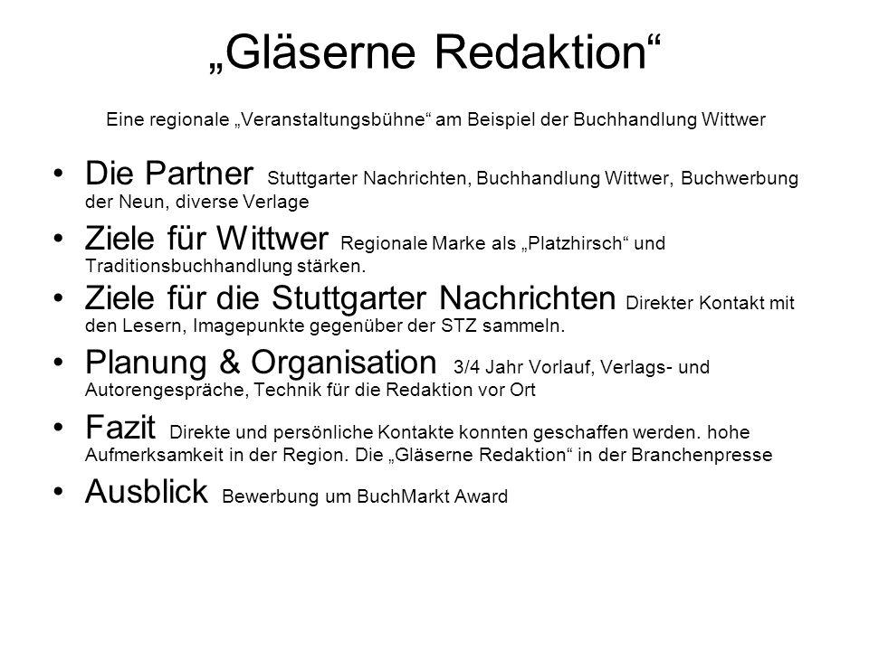 Ganzseitiger redaktioneller Rückblick der Veranstaltungen und Interviews vom Vortag Stuttgarter Nachrichten, Freitag 25.