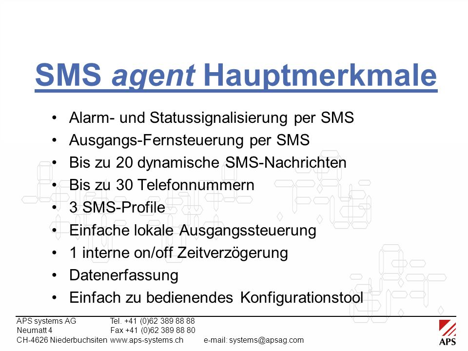 APS systems AGTel.