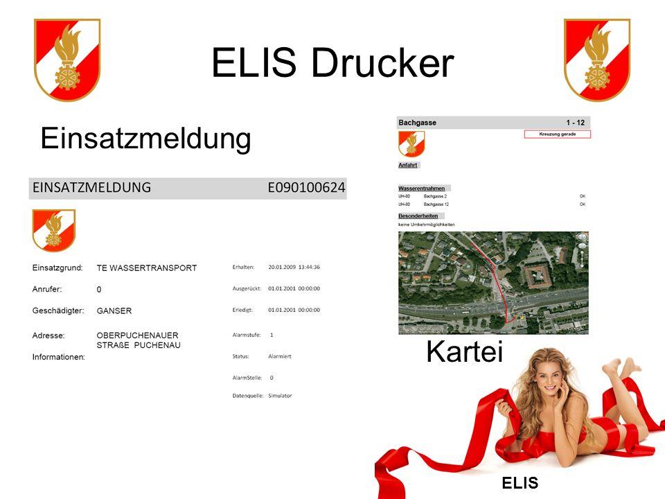 ELIS ELIS Sprachausgabe Ausgabe der Einsatzmeldung als Text2Speech Modul TTS in deutscher Sprache Inhalte der Sprachausgabe einstellbar 3 Status (Alarm, Ausger, Eldgt)