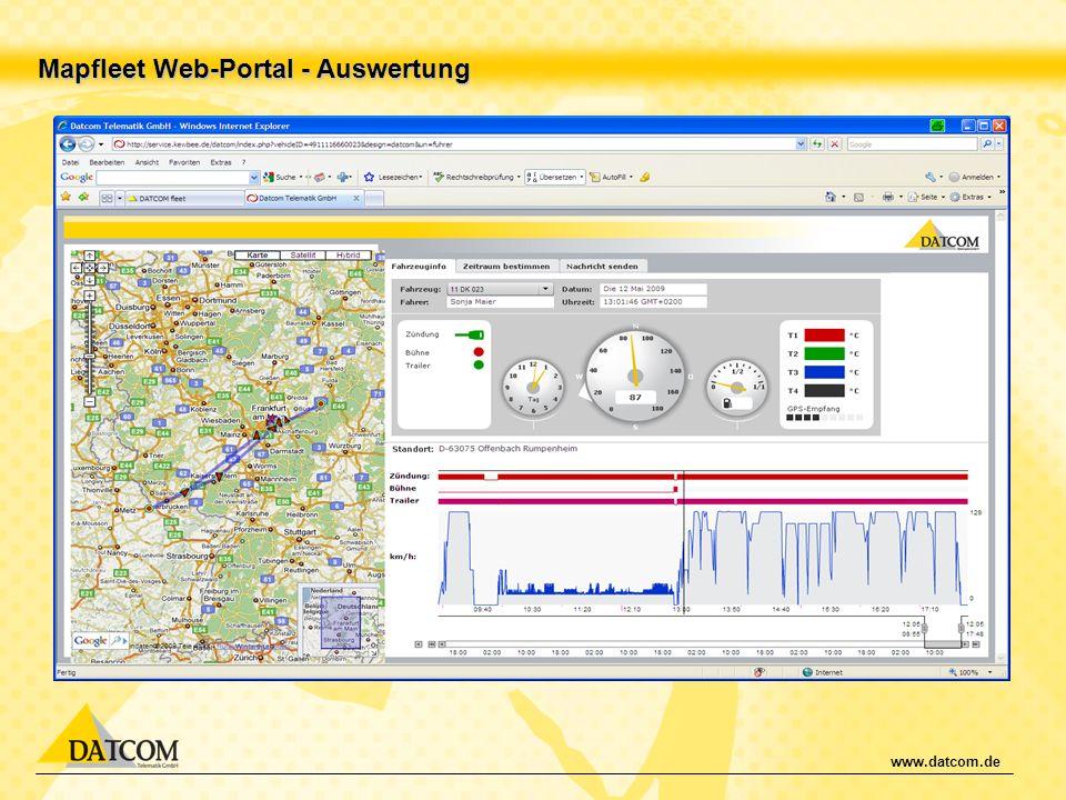 www.datcom.de Mapfleet Web-Portal - Auswertung