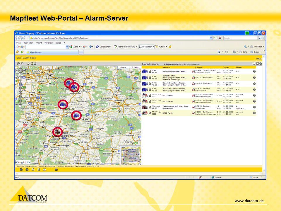 www.datcom.de Mapfleet Web-Portal – Alarm-Server