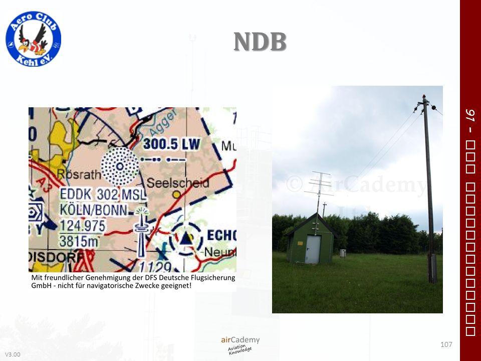 V3.00 91 – VFR Communication NDB 107