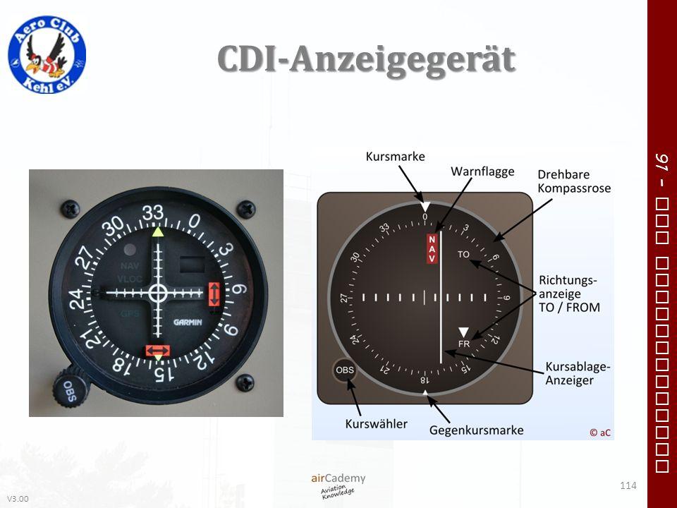 V3.00 91 – VFR Communication CDI-Anzeigegerät 114