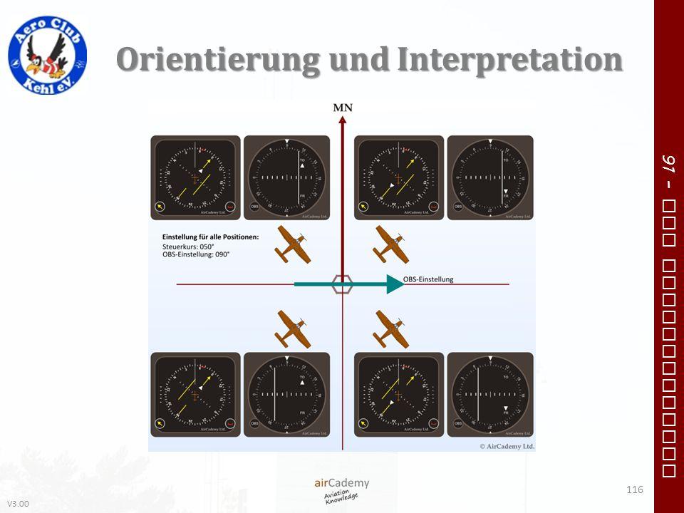 V3.00 91 – VFR Communication Orientierung und Interpretation 116