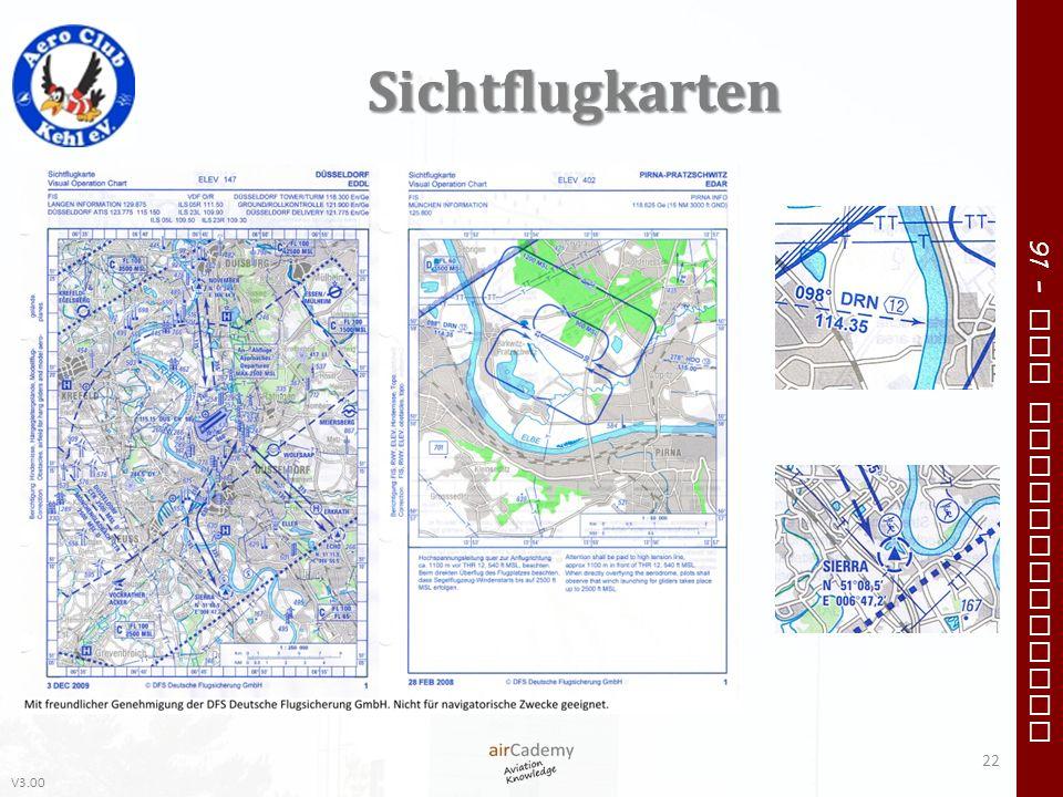 V3.00 91 – VFR Communication Sichtflugkarten 22