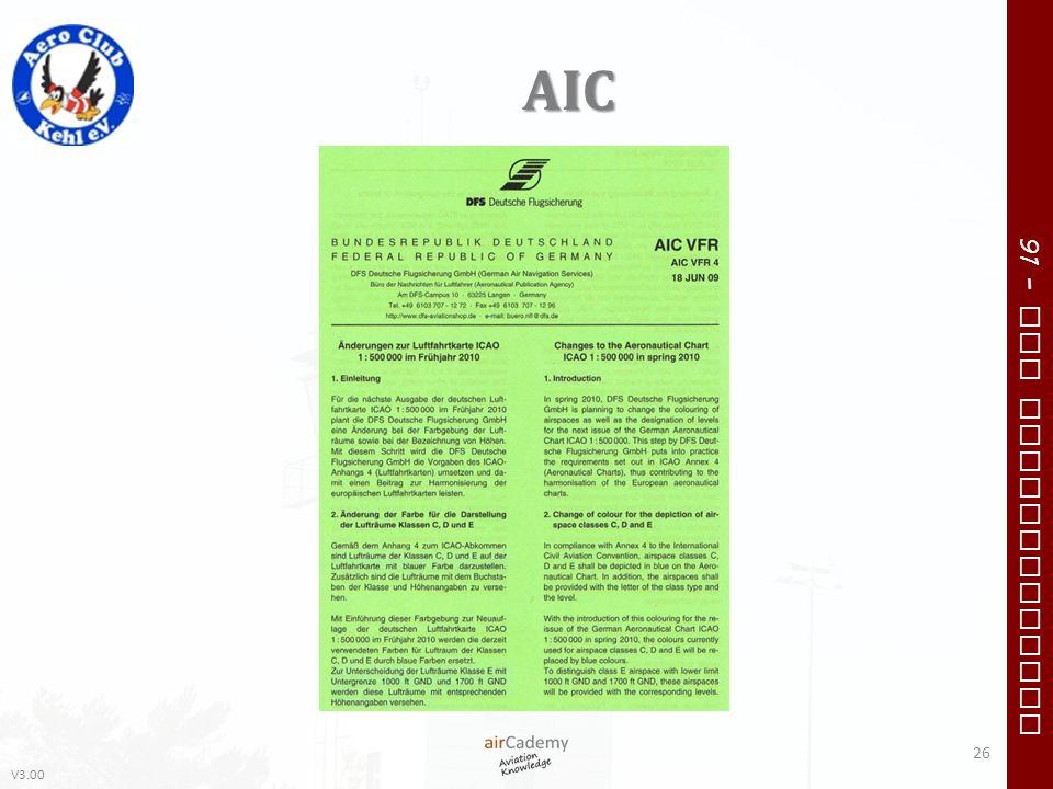 V3.00 91 – VFR Communication AIC 26