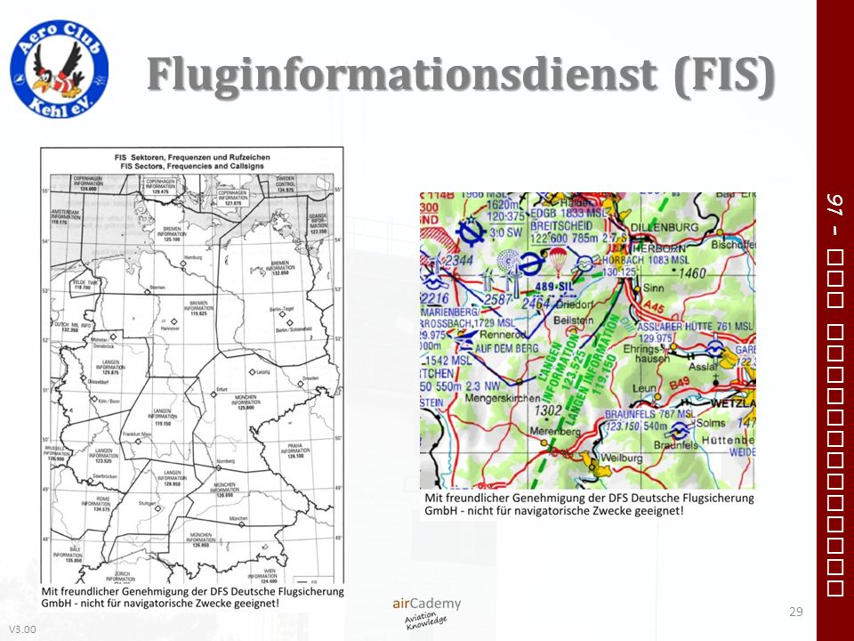 V3.00 91 – VFR Communication Fluginformationsdienst (FIS) 29