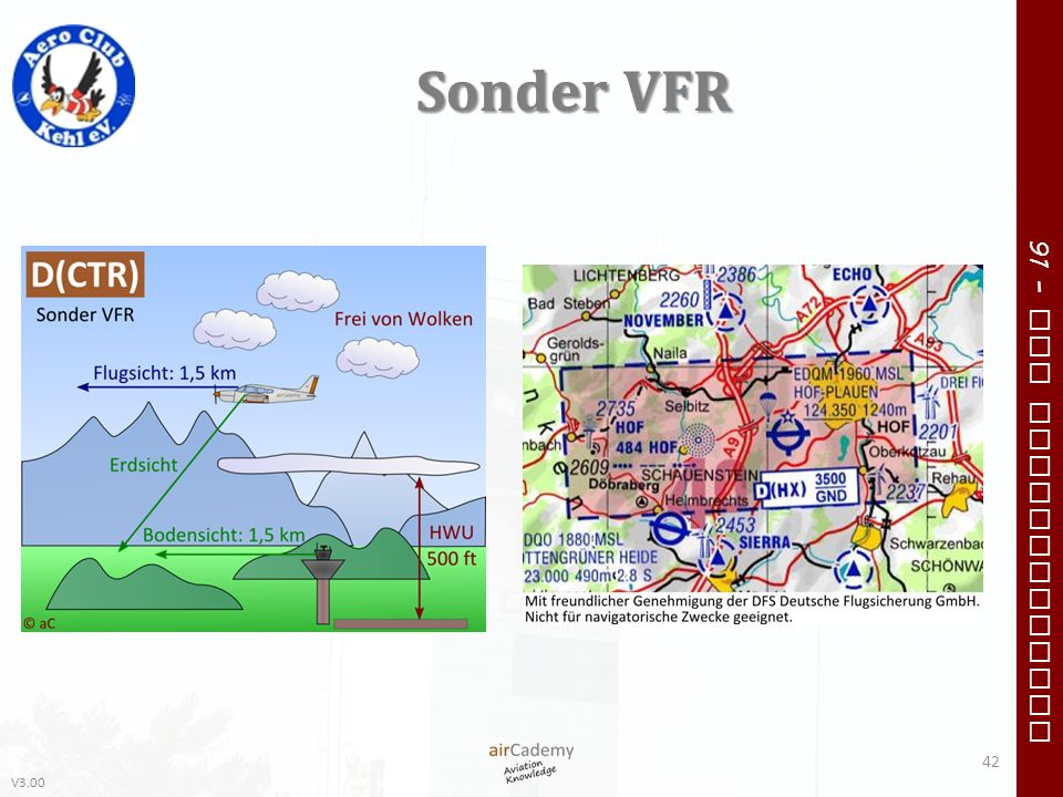 V3.00 91 – VFR Communication Sonder VFR 42