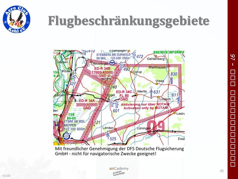 V3.00 91 – VFR Communication Flugbeschränkungsgebiete 45