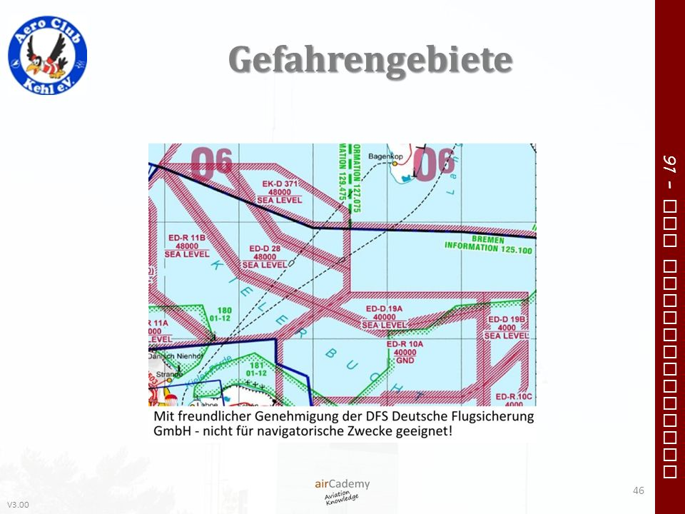 V3.00 91 – VFR Communication Gefahrengebiete 46