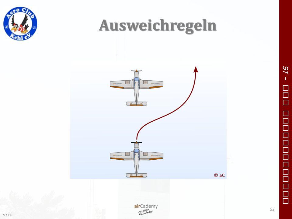 V3.00 91 – VFR Communication Ausweichregeln 52