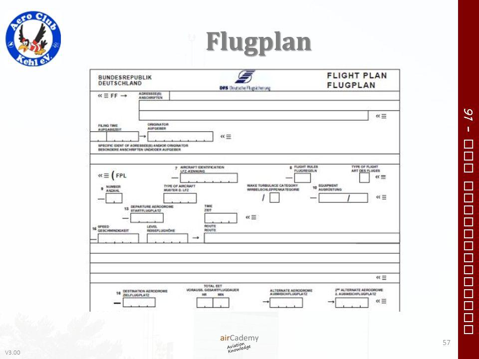 V3.00 91 – VFR Communication Flugplan 57