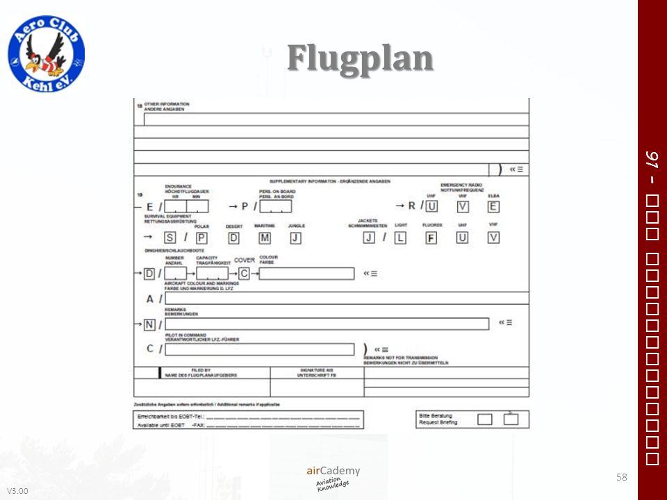 V3.00 91 – VFR Communication Flugplan 58