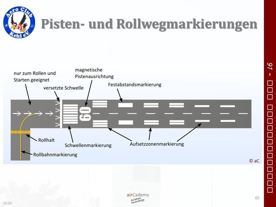 V3.00 91 – VFR Communication Pisten- und Rollwegmarkierungen 65