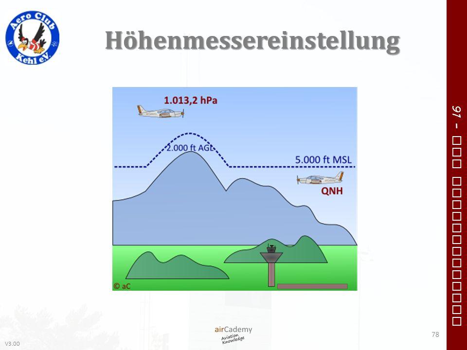 V3.00 91 – VFR Communication Höhenmessereinstellung 78