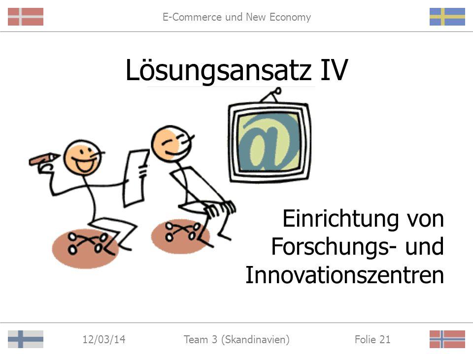 E-Commerce und New Economy 12/03/14 Folie 20Team 3 (Skandinavien) Gütesiegel Dänemark: Bedst på Nettet (http://www.bedstpaanettet.dk) (http://www.bedstpaanettet.dk) –Qualitätsbewertung durch Internet-Nutzer Schweden: Säker Handel (www.ecommerce.telia.com)www.ecommerce.telia.com –Anbieten und Überwachen eines zuverlässigen E-Commerce-Systems Norwegen: N-Safe (www.nsafe.no)www.nsafe.no –Überwachung der Einhaltung bestehender Markenrechtsvorschriften durch Internet-Nutzer