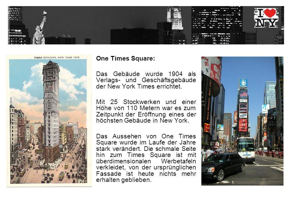 1928 wurde mit dem Times Square Ticker eine riesige, das Gebäude umgebende, Nachrichten-Laufschrift in Betrieb genommen.