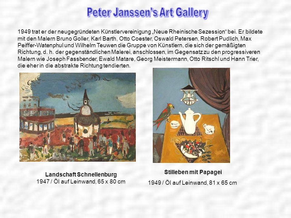 1949 trat er der neugegründeten Künstlervereinigung Neue Rheinische Sezession bei. Er bildete mit den Malern Bruno Goller, Karl Barth, Otto Coester, O