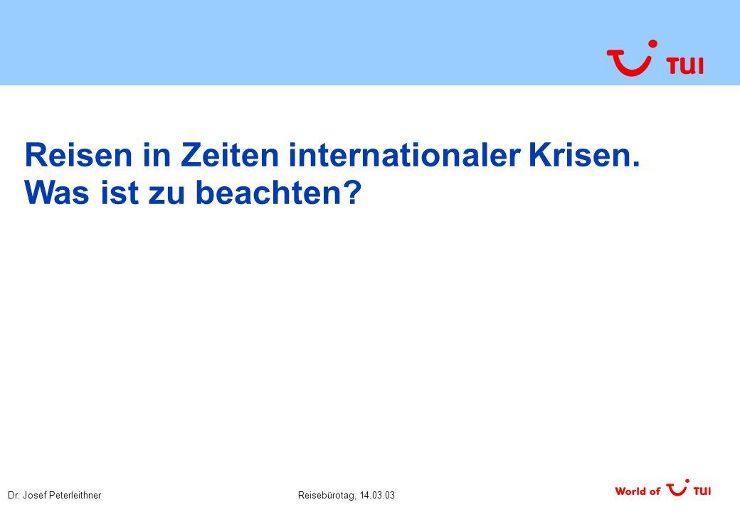 Dr.Josef PeterleithnerReisebürotag, 14.03.03 Ist Kunden-/ Markenbindung wichtig.