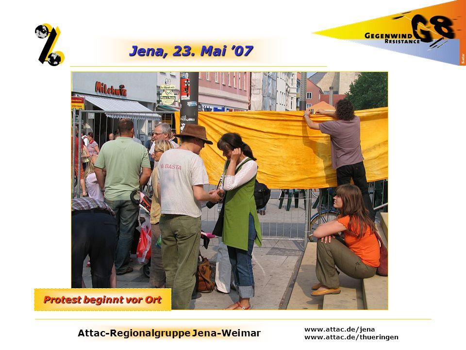 Attac-Regionalgruppe Jena-Weimar www.attac.de/jena www.attac.de/thueringen Rostock, Juni 07 Art goes Heiligendamm