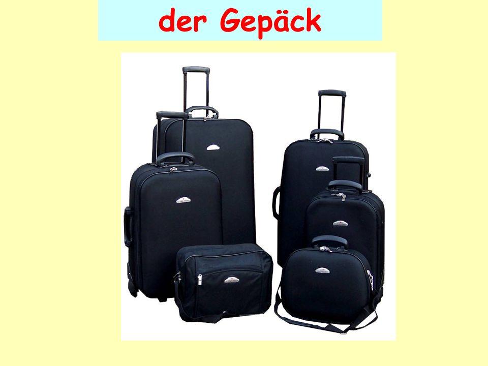 der Gepäck