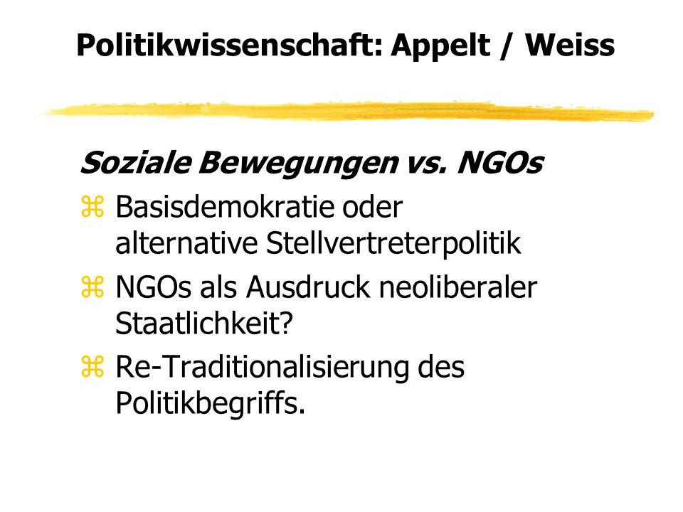 Politikwissenschaft: Appelt / Weiss Soziale Bewegungen vs.