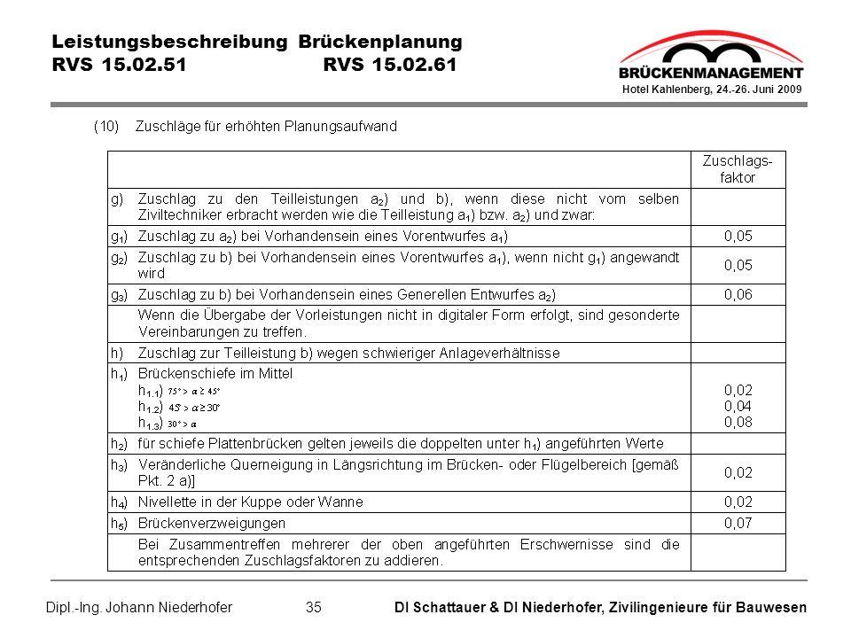 DI Schattauer & DI Niederhofer, Zivilingenieure für Bauwesen Hotel Kahlenberg, 24.-26.