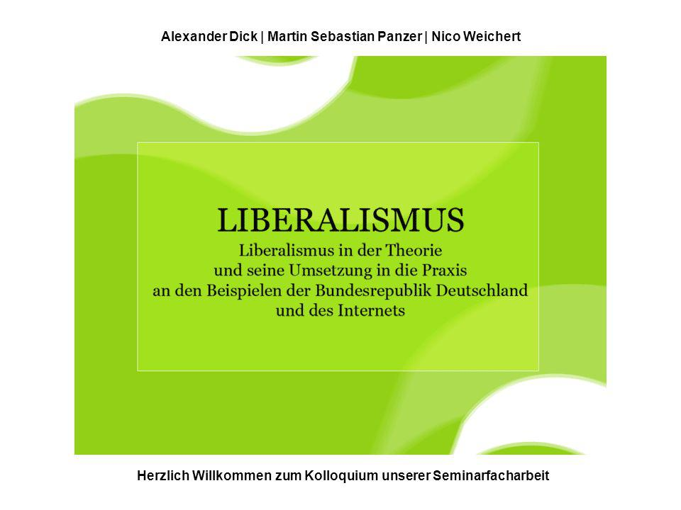 Herzlich Willkommen zum Kolloquium unserer Seminarfacharbeit Alexander Dick | Martin Sebastian Panzer | Nico Weichert