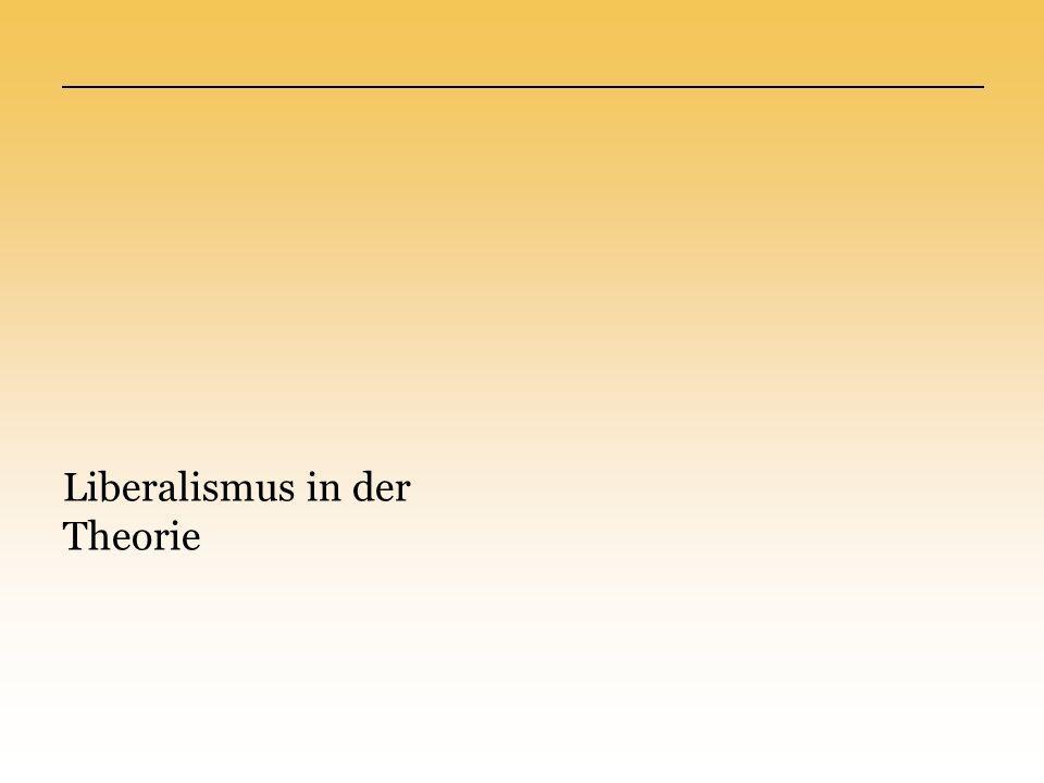 Politisch Verfassungs- und Rechtsstaat Grundrechte Gleichheit vor dem Gesetz Volkssouveränität Grundforderungen Wirtschaftlich Freie Marktwirtschaft Keine staatlichen Eingriffe Gesellschaftlich Offene Gesellschaft Keine kulturellen & ethischen Einschränkungen Liberalismus in der Theorie