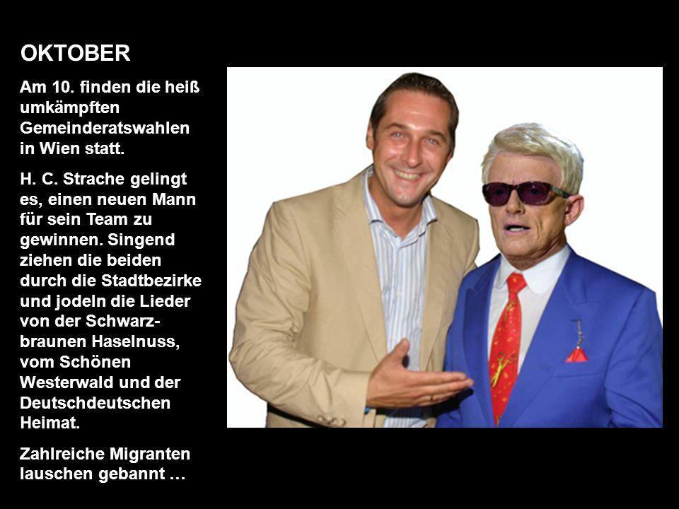 SEPTEMBER In der Steiermark stehen Landtagswahlen vor der Tür. In der Grazer Burg trifft man sich und posiert für ein finales Familienfoto. Die Wahlen