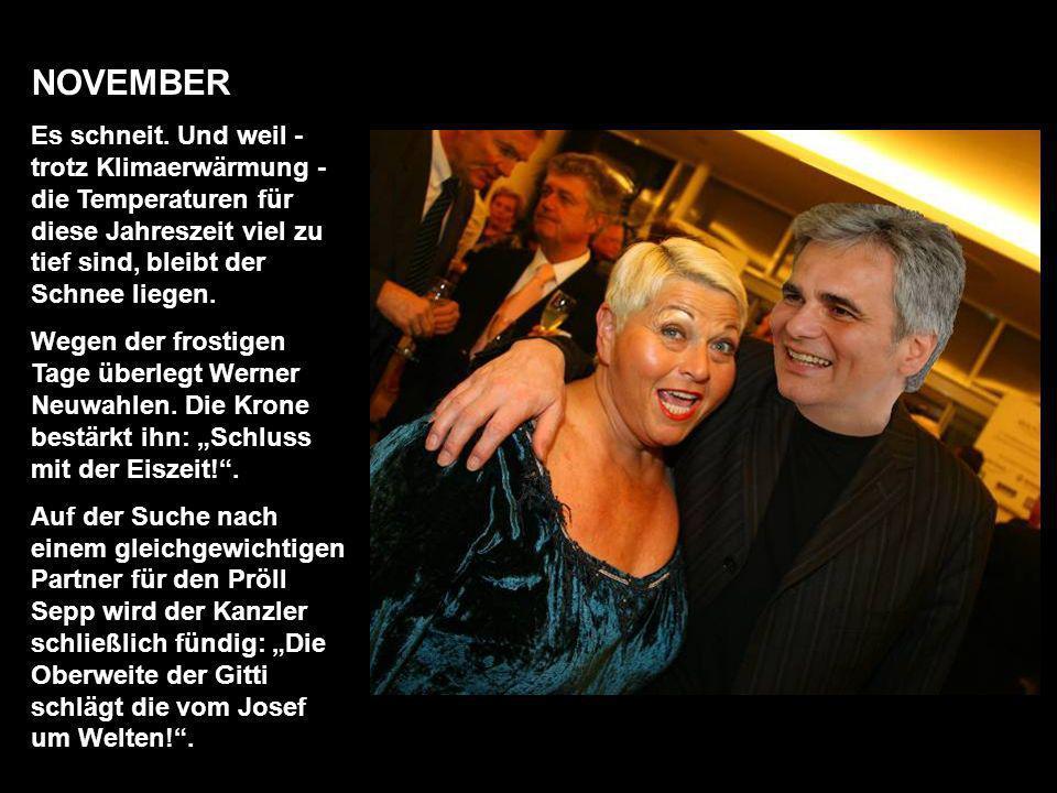 OKTOBER Am 10. finden die heiß umkämpften Gemeinderatswahlen in Wien statt. H. C. Strache gelingt es, einen neuen Mann für sein Team zu gewinnen. Sing