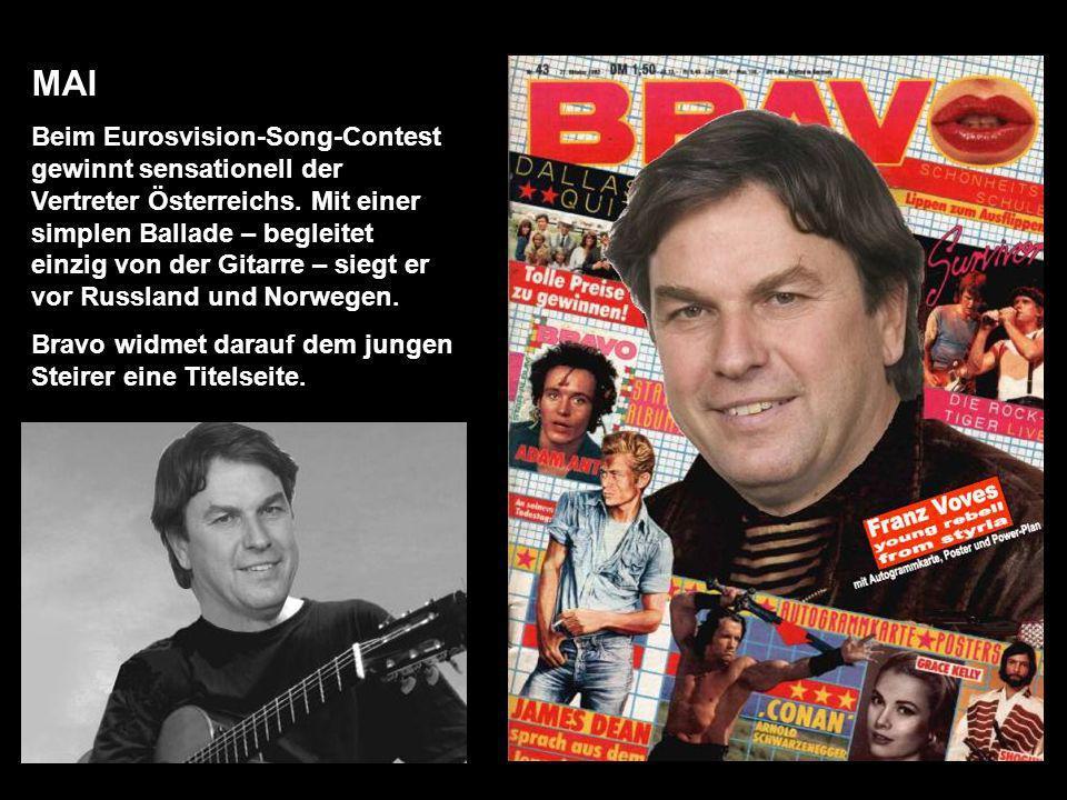 MAI Beim Eurosvision-Song-Contest gewinnt sensationell der Vertreter Österreichs.