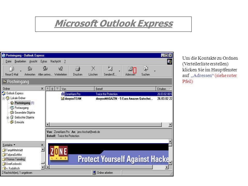 Microsoft Outlook Express Um die Nachrichten aus dem Posteingangsordner in die nun angelegten Ordner zu verschieben, gehen Sie folgendermaßen vor: Mar
