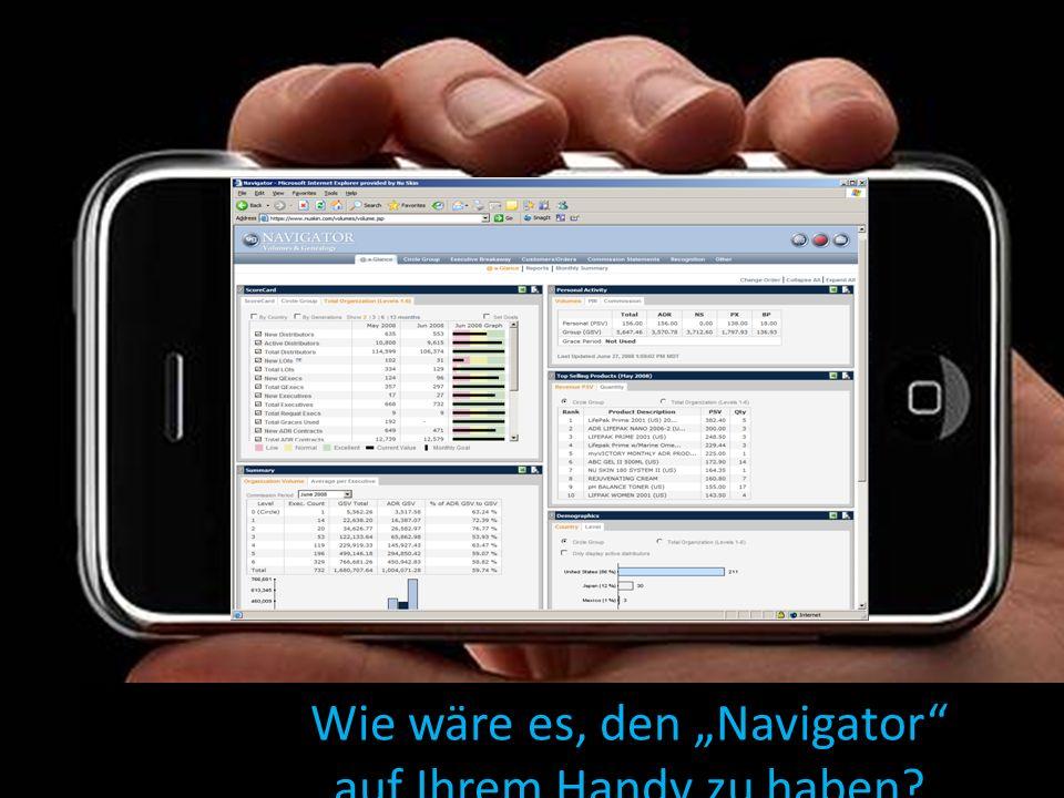 Wie wäre es, den Navigator auf Ihrem Handy zu haben?