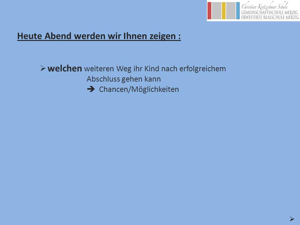 Unsere Bildungswege – mit G9 zum Abitur - Kooperationspartner: BBZ Merzig Peter Wust Gymnasium Merzig