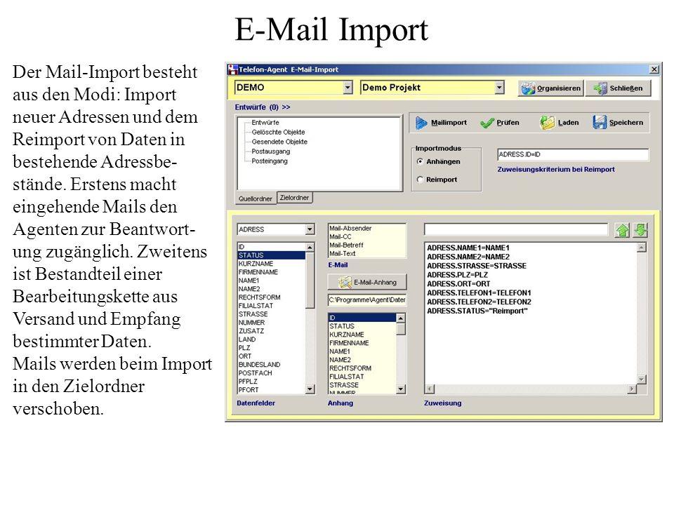Diese Schnittstelle ermöglicht die Erzeug- ung von Einzelmails während des Kontaktes und Serienmails in Outlook. Die Felder für Empfänger, CC, Betreff