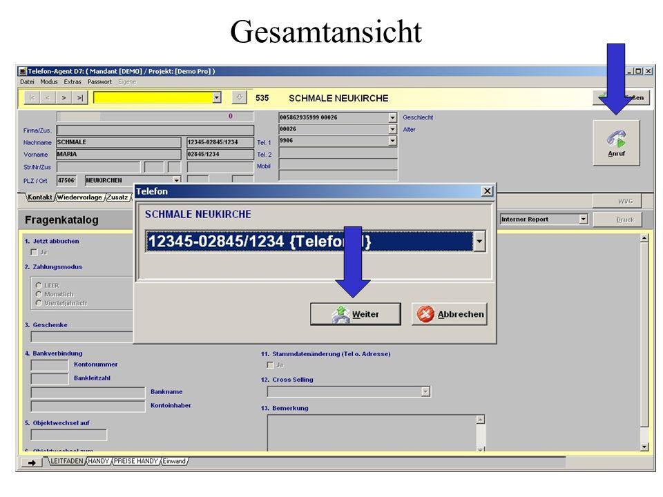 Das Agentenprogramm Das Agentenprogramm ist übersichtlich, leicht zu erlernen und den wechselnden Anforderungen in einem Call Center funktional und er