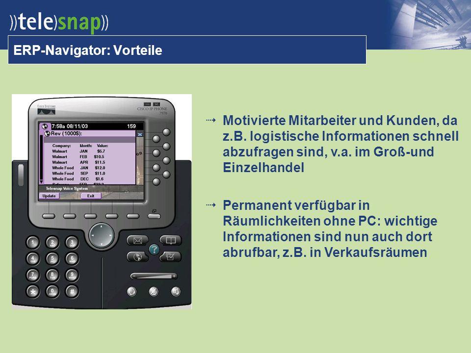 ERP-Navigator: Vorteile Motivierte Mitarbeiter und Kunden, da z.B.