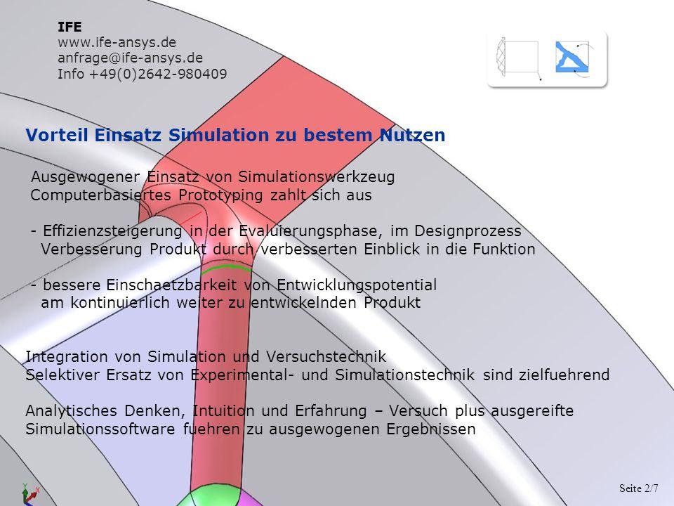Vorteil Einsatz Simulation zu bestem Nutzen Ausgewogener Einsatz von Simulationswerkzeug Computerbasiertes Prototyping zahlt sich aus - Effizienzsteig